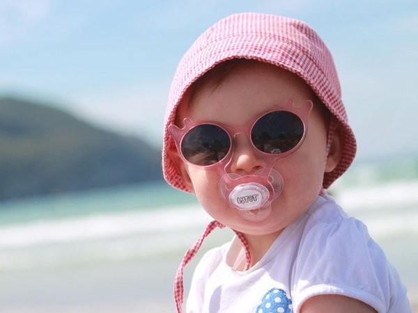 Protección del sol en los bebés y los niños.